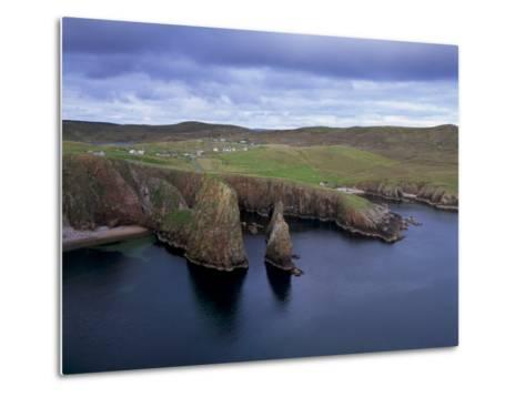 Wester Wick and Hamlet of Westerwick, West Mainland, Shetlands Island, Scotland, United Kingdom-Patrick Dieudonne-Metal Print