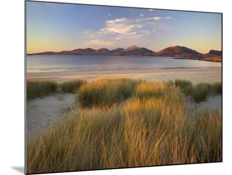 Marram Grass and Beach Near Luskentyre, Towards North Harris Forest Hills, South Harris, Scotland-Patrick Dieudonne-Mounted Photographic Print