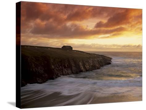 Black House Village, Restored, Garenin, Isle of Lewis, Outer Hebrides, Scotland, UK-Patrick Dieudonne-Stretched Canvas Print