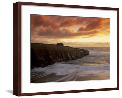 Black House Village, Restored, Garenin, Isle of Lewis, Outer Hebrides, Scotland, UK-Patrick Dieudonne-Framed Art Print
