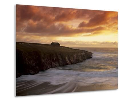Black House Village, Restored, Garenin, Isle of Lewis, Outer Hebrides, Scotland, UK-Patrick Dieudonne-Metal Print
