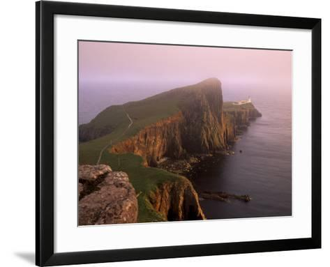 Neist Point Lighthouse, the Westernmost Point of Skye, Duirinish, Isle of Skye, Scotland, UK-Patrick Dieudonne-Framed Art Print