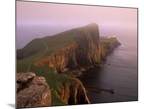 Neist Point Lighthouse, the Westernmost Point of Skye, Duirinish, Isle of Skye, Scotland, UK-Patrick Dieudonne-Mounted Photographic Print