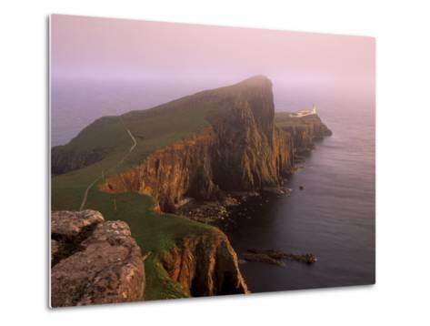 Neist Point Lighthouse, the Westernmost Point of Skye, Duirinish, Isle of Skye, Scotland, UK-Patrick Dieudonne-Metal Print