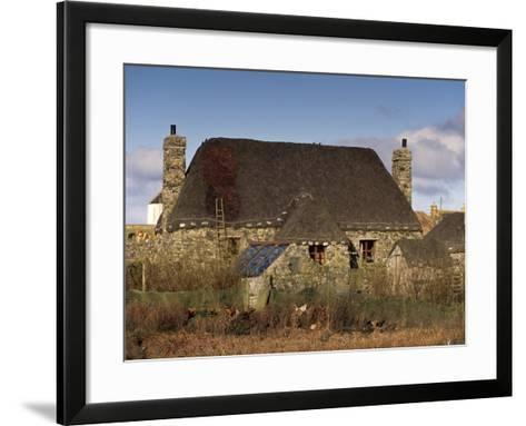 Thatched House, Howmore, South Uist, Outer Hebrides, Scotland, United Kingdom, Europe-Patrick Dieudonne-Framed Art Print