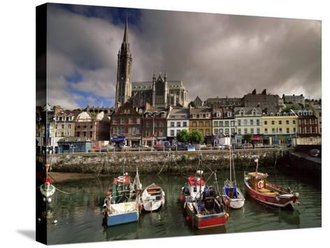 Cobh Harbour and St. Colman's Cathedral, Cobh, County Cork, Munster, Republic of Ireland-Patrick Dieudonne-Stretched Canvas Print