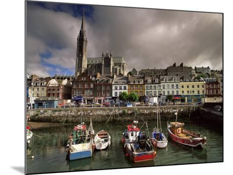 Cobh Harbour and St. Colman's Cathedral, Cobh, County Cork, Munster, Republic of Ireland-Patrick Dieudonne-Mounted Photographic Print