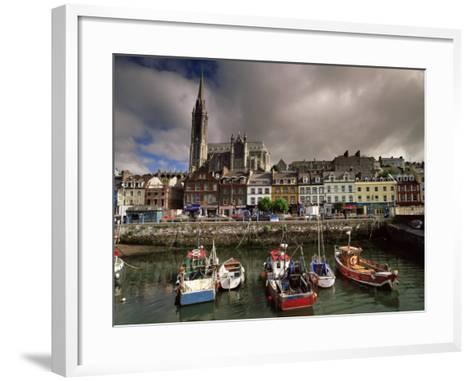 Cobh Harbour and St. Colman's Cathedral, Cobh, County Cork, Munster, Republic of Ireland-Patrick Dieudonne-Framed Art Print