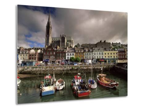 Cobh Harbour and St. Colman's Cathedral, Cobh, County Cork, Munster, Republic of Ireland-Patrick Dieudonne-Metal Print