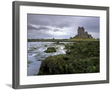 Dunguaire Castle and Coast, Near Kinvarra, County Galway, Connacht, Republic of Ireland-Patrick Dieudonne-Framed Art Print