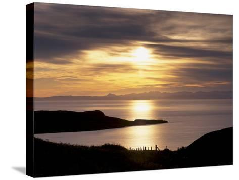 Sunset over Sleat Peninsula and Loch Eishort, Near Ord, Isle of Skye, Inner Hebrides, Scotland, UK-Patrick Dieudonne-Stretched Canvas Print