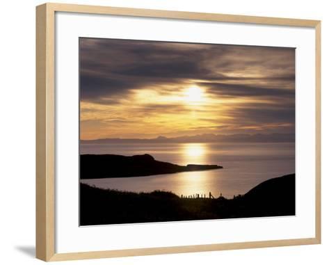 Sunset over Sleat Peninsula and Loch Eishort, Near Ord, Isle of Skye, Inner Hebrides, Scotland, UK-Patrick Dieudonne-Framed Art Print