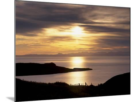 Sunset over Sleat Peninsula and Loch Eishort, Near Ord, Isle of Skye, Inner Hebrides, Scotland, UK-Patrick Dieudonne-Mounted Photographic Print