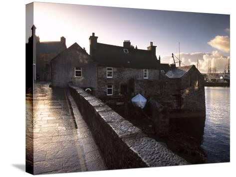 Lerwick Seafront, with Wharves and Slipways, Lerwick, Mainland, Shetland Islands, Scotland, UK-Patrick Dieudonne-Stretched Canvas Print