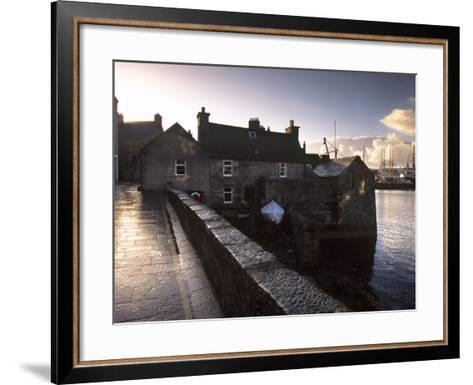 Lerwick Seafront, with Wharves and Slipways, Lerwick, Mainland, Shetland Islands, Scotland, UK-Patrick Dieudonne-Framed Art Print