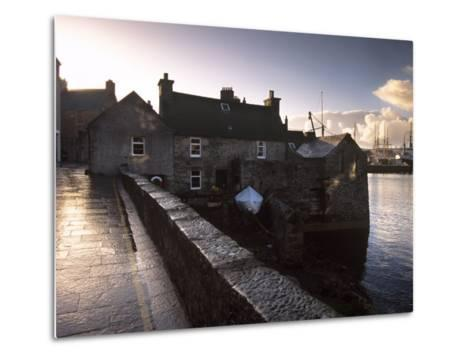 Lerwick Seafront, with Wharves and Slipways, Lerwick, Mainland, Shetland Islands, Scotland, UK-Patrick Dieudonne-Metal Print