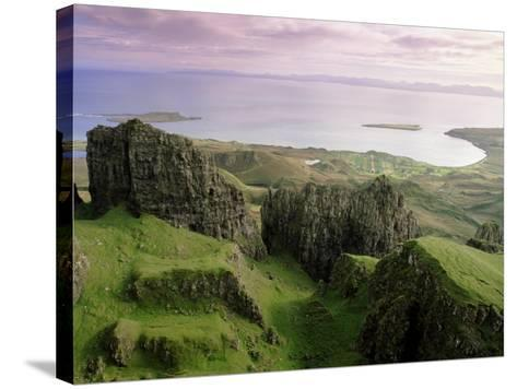 Table, Prison, the Quiraing, Trotternish, Isle of Skye, Highlands, Scotland, United Kingdom, Europe-Patrick Dieudonne-Stretched Canvas Print