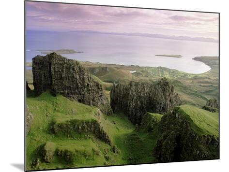 Table, Prison, the Quiraing, Trotternish, Isle of Skye, Highlands, Scotland, United Kingdom, Europe-Patrick Dieudonne-Mounted Photographic Print