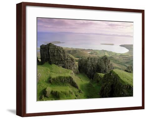Table, Prison, the Quiraing, Trotternish, Isle of Skye, Highlands, Scotland, United Kingdom, Europe-Patrick Dieudonne-Framed Art Print