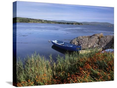 Tranquil Bay and Boat Near Adrigole, Beara Peninsula, County Cork, Munster, Republic of Ireland-Patrick Dieudonne-Stretched Canvas Print