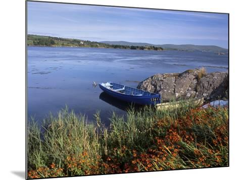 Tranquil Bay and Boat Near Adrigole, Beara Peninsula, County Cork, Munster, Republic of Ireland-Patrick Dieudonne-Mounted Photographic Print