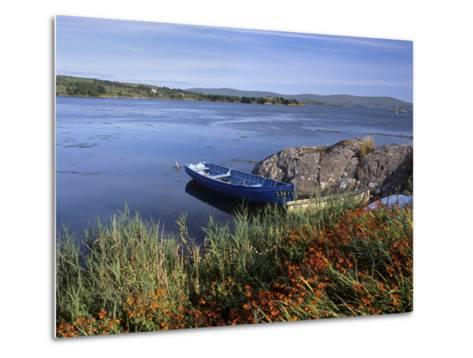 Tranquil Bay and Boat Near Adrigole, Beara Peninsula, County Cork, Munster, Republic of Ireland-Patrick Dieudonne-Metal Print