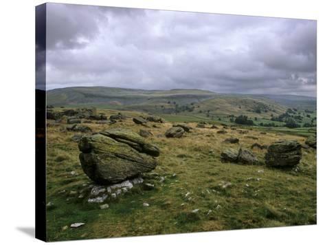 Norber Erratics Near Austwick, Yorkshire Dales National Park, Yorkshire, England, UK-Patrick Dieudonne-Stretched Canvas Print