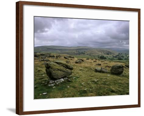 Norber Erratics Near Austwick, Yorkshire Dales National Park, Yorkshire, England, UK-Patrick Dieudonne-Framed Art Print
