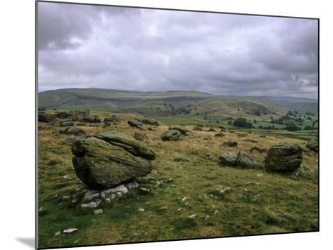 Norber Erratics Near Austwick, Yorkshire Dales National Park, Yorkshire, England, UK-Patrick Dieudonne-Mounted Photographic Print