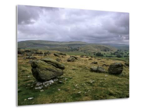 Norber Erratics Near Austwick, Yorkshire Dales National Park, Yorkshire, England, UK-Patrick Dieudonne-Metal Print