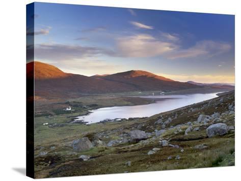 View over Ardvourlie, Borglass and Loch Seaforth, North Harris, Outer Hebrides, Scotland, UK-Patrick Dieudonne-Stretched Canvas Print