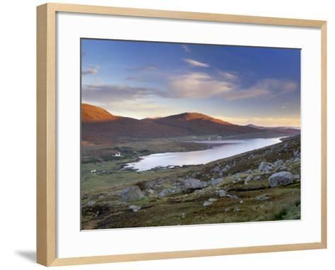 View over Ardvourlie, Borglass and Loch Seaforth, North Harris, Outer Hebrides, Scotland, UK-Patrick Dieudonne-Framed Art Print