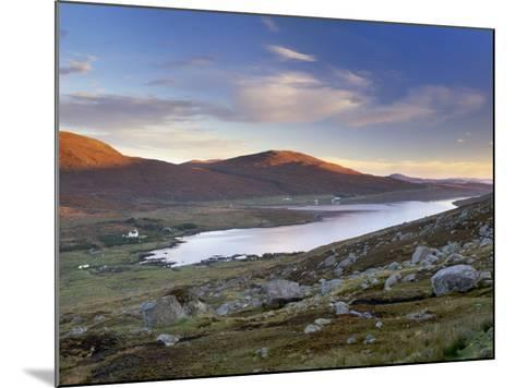 View over Ardvourlie, Borglass and Loch Seaforth, North Harris, Outer Hebrides, Scotland, UK-Patrick Dieudonne-Mounted Photographic Print