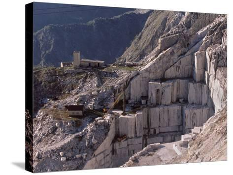 Carrara Marble Quarry Near Antona in Apuane Alps, Tuscany, Italy, Europe-Patrick Dieudonne-Stretched Canvas Print