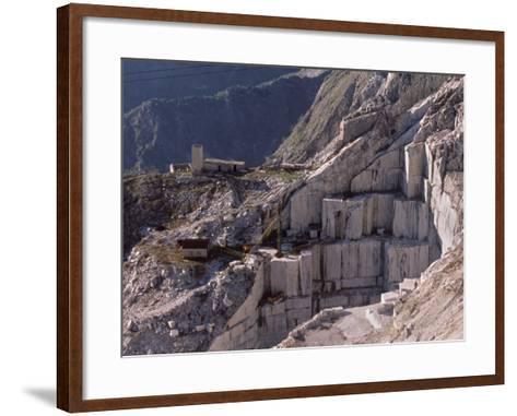 Carrara Marble Quarry Near Antona in Apuane Alps, Tuscany, Italy, Europe-Patrick Dieudonne-Framed Art Print