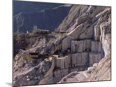 Carrara Marble Quarry Near Antona in Apuane Alps, Tuscany, Italy, Europe-Patrick Dieudonne-Mounted Photographic Print