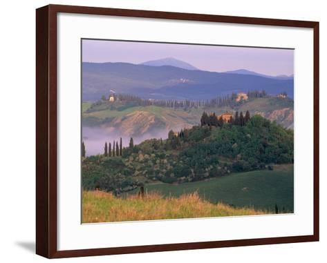 Landscape of the Crete Senesi Area, Southeast of Siena, Near Asciano, Tuscany, Italy, Europe-Patrick Dieudonne-Framed Art Print