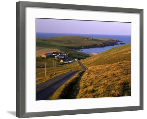 Skaw, Most Northerly House in Great Britain, Unst, Shetland Islands, Scotland, United Kingdom-Patrick Dieudonne-Framed Art Print