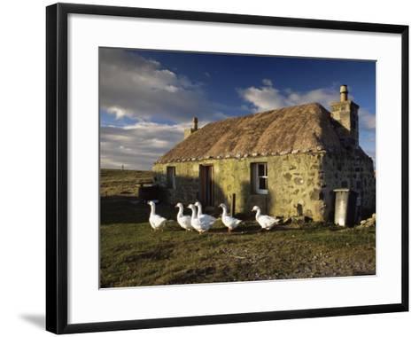 Thatched House, Howmore, South Uist, Outer Hebrides, Scotland, United Kingdom, Europe-Patrick Dieudonne-Framed Art Print