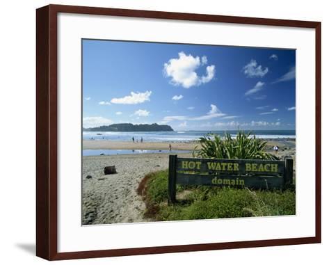 Hot Water Beach on the East Coast of the Coromandel Peninsula, North Island, New Zealand-Robert Francis-Framed Art Print