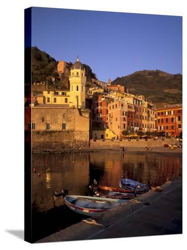 Vernazza Harbour, Vernazza, Cinque Terre, UNESCO World Heritage Site, Liguria, Italy, Europe-Patrick Dieudonne-Stretched Canvas Print
