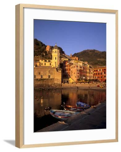 Vernazza Harbour, Vernazza, Cinque Terre, UNESCO World Heritage Site, Liguria, Italy, Europe-Patrick Dieudonne-Framed Art Print