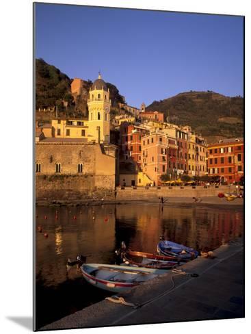 Vernazza Harbour, Vernazza, Cinque Terre, UNESCO World Heritage Site, Liguria, Italy, Europe-Patrick Dieudonne-Mounted Photographic Print