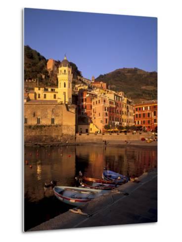Vernazza Harbour, Vernazza, Cinque Terre, UNESCO World Heritage Site, Liguria, Italy, Europe-Patrick Dieudonne-Metal Print