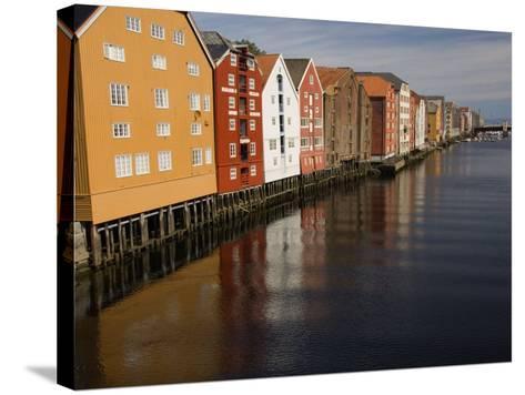 Merchants Premises Along the Nidelva, Trondheim, Norway, Scandinavia, Europe-James Emmerson-Stretched Canvas Print