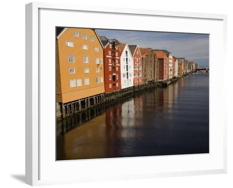 Merchants Premises Along the Nidelva, Trondheim, Norway, Scandinavia, Europe-James Emmerson-Framed Art Print