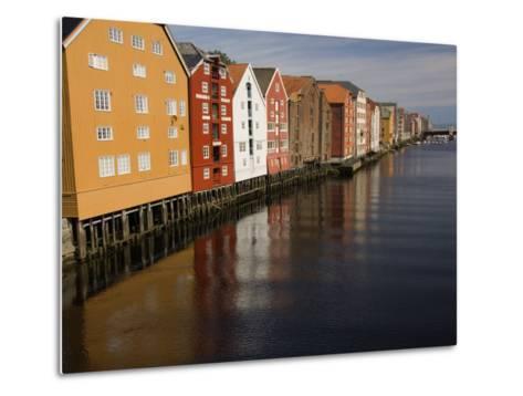 Merchants Premises Along the Nidelva, Trondheim, Norway, Scandinavia, Europe-James Emmerson-Metal Print