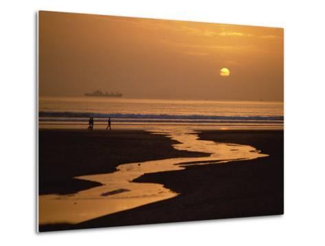 Sunset, Agadir Beach, Agadir, Morocco, North Africa, Africa-Robert Francis-Metal Print