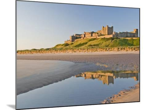 Morning Light on the Beach at Bamburgh Castle, Northumberland, England, United Kingdom, Europe-James Emmerson-Mounted Photographic Print