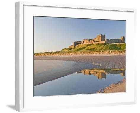 Morning Light on the Beach at Bamburgh Castle, Northumberland, England, United Kingdom, Europe-James Emmerson-Framed Art Print